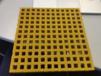 FRP grating mesh in yellow